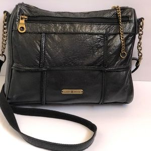 Lucky Brand Crossbody Leather Black Purse Shoulder